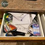 Eine klassische Schublade in der Küche. Was ist drin? Keine Ahnung.