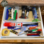 nun ist es klar: alles für die Küche, was man tagsüber mal so braucht: Stifte, Etiketten, Klipps, das Asthma Spray uvm.
