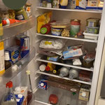 Kühlschrank vorher unstrukturiert