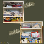 Mit Kisten kann man das Volumen eines Schrankes besser nutzen und damit auch die Übersicht für schwer zugängliche Bereiche behalten