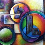 el juego del arco iris   100 x 80cm