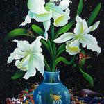 orquideas tropicales   70 x 90cm
