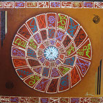 calendario indigena   80 x 80cm