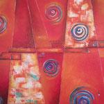 mundo rojo   115 x 90cm