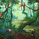 cusumbo - rey de la amazonia   120 x 70cm
