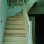 Escalier frêne quart tournant