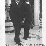 Marcello junto al ministro Alfredo Rocco