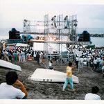 日本海夕日コンサート(86年~05年)実行委員として関わりコンサートを20年担当。写真は貴重な第1回目の関屋浜のステージです。