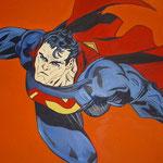 SUPERMANN, 50X100CM, ACRYL AUF LEINWAND, VERKAUFT