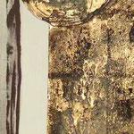 ARMONIA, 40X120CM, MATERIALE VINILICO/GOLDBLATT/FARBPULVER AUF LEINWAND, PREIS AUF ANFRAGE