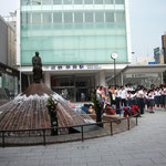 奈良駅前の噴水