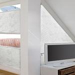 Plissee für schräge Fenster, Faltrollos für Fenster mit Sonderform in Langenselbold, Rodenbach, Hanau, Erlensee, Gründau, Freigericht