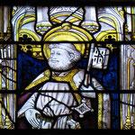 Exemple de vitrail du XVe siècle (choeur) : saint Pierre - Collégiale d'Eymoutiers