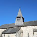 Nedde - Eglise au toit entièrement couvert de bardeaux de châtaignier