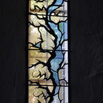 Vitrail contemporain de l'Atelier Martin (2005) - Eglise de Rempnat