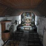 Le Châtenet-en-Dognon - Eglise - Rare couvrement intérieur en lambris de châtaignier