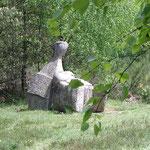 Oeuvre contemporaine le long du Chemin des Poètes (sentier de randonnée) - Peyrat-le-Château