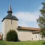 Sauviat-sur-Vige - Eglise - Rare clocher à dôme à l'impérial