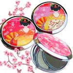 新商品桜と舞妓のjAPANコンパクトミラー 希望小売価格600円