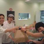 """""""Rolaso""""の明子さんより、Inseki Projectへ。美味しく食べて頂けますように‥。"""