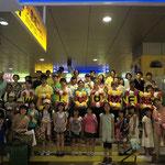 8月15日夕方。福島からの子ども9人+引率の大人2人、無事、小倉駅に到着しました。ホームステイ先の家族と、国際ワークキャンプのメンバーと、実行委員とで、お迎えしました。長旅にも関わらず、子どもたちは元気な表情です。