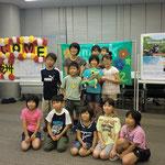 8月17日。ウエルカムパーティーにて。福島からの皆さんです。