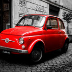 Rom Italien- Fiat 500