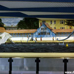 graffiti Kunst schwimmen Ansicht Stadt