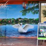 einkaufen im Schwanensee Malerei