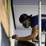 Wandmalerei mit Pinsel