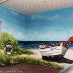 Wandmalerei an der Ostsee