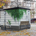 stromhaus Grafik Entwurf illusions Efeu Fahrrad berlin vattenfall eon
