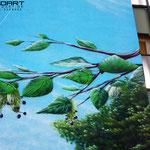 giebel malerei Fassade hohe wand hoch hinaus kind Projekt