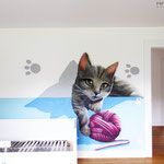 Graffitikunst im Innenraum