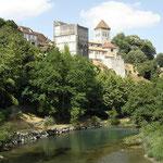 Sauveterre de Béarn - le site vu du Gave