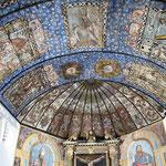 Eglise d'Espès - le plafond peint