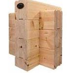 Massivholzhaus: Blockwand mit  Lamellenbalken ab 202x220 mm² bis 275 mm - Massivholzhäuser aus Polarkiefer - Selbstbauhaus - Bausatzhaus - Neubau - Blockhaus bauen - Blockbohlenhaus - Ferienhaus