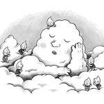 「雨つぶたち」挿絵