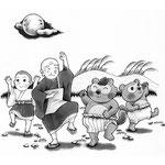 「たぬきばやし」挿絵