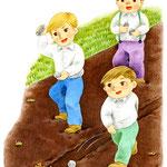 「小学生のどうとく 4」ヒキガエルとロバ挿絵