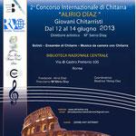 """2° Concorso Internazionale """"Alirio Diaz"""" Giovani Chitarristi"""