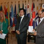 Sylvia Irrazabal(Segretaria Culturale IILA)- Senio Diaz- Alfredo Viloria(Ambasciata Venezuela)