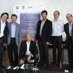 Senio Diaz e la giuria:Daniele Salvatore Pidone,Massimo Delle Cese,Jonathan Bolivar,Antonio Grande,Maurizio Bacchini