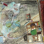 妖怪えほん「つくもがみ」作:京極夏彦 (岩崎書店) 本文見開き1 2013