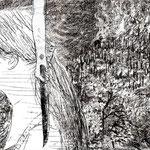 安達千夏「マキリ」装丁カバー原画 (講談社)2010