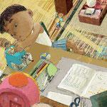 妖怪えほん「つくもがみ」作:京極夏彦 (岩崎書店) 本文見開き3 2013