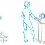 Ideen zum Transport von Koffer und Baby > 2
