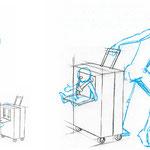Ideen zum Transport von Koffer und Baby > 1
