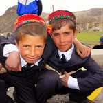 Schoolboys on Navrouz (New Year) celebration