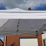Pavillon weiß Dach